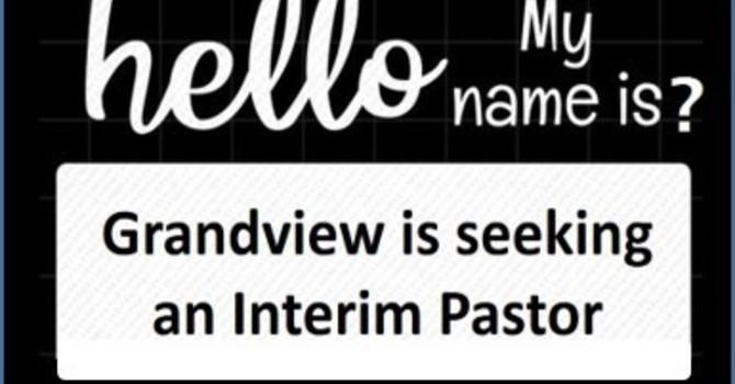 Interim Pastor Position  - Updated January 15th image