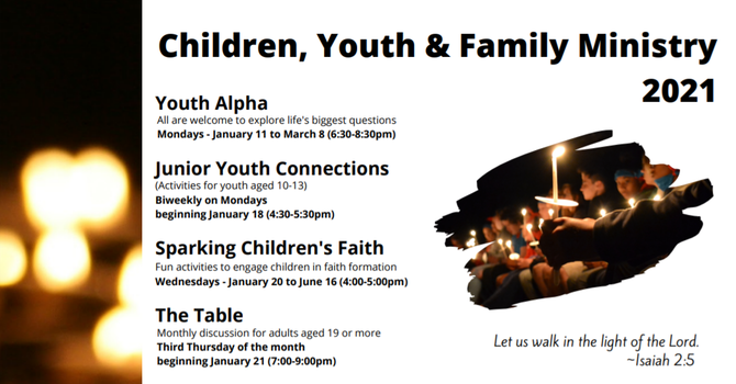 Children, Youth & Family Ministry 2021 image