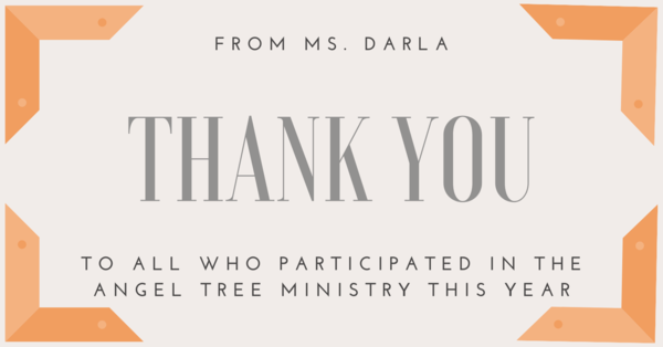 A Note from Ms. Darla