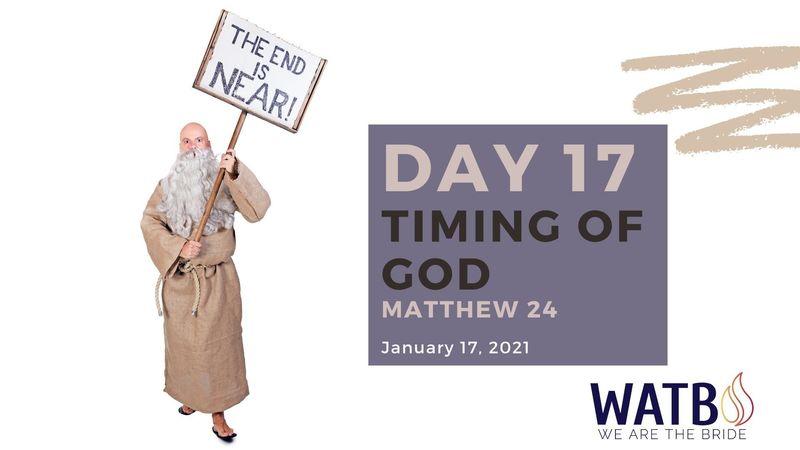 Day 17 - Bible Study w/Dr. June Knight - Matthew 24