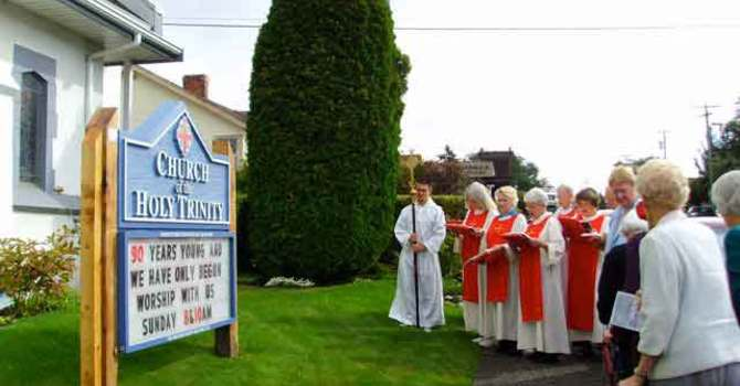 New Church Sign for 90th Anniversary Celebrations -UPDATED image