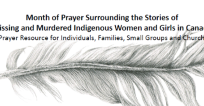 Month of Prayer for Missing and Murdered Indigenous Women image
