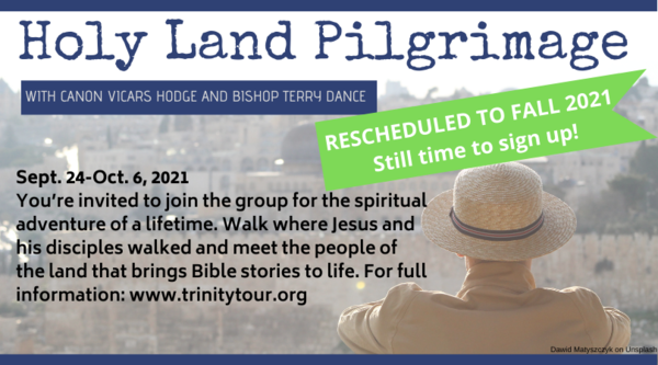 Holy Land trip delayed until fall