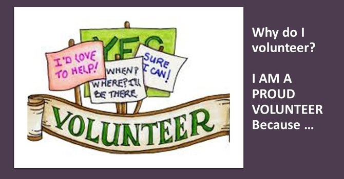 Why do MMOC parishioners Volunteer???