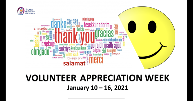 Virtual Volunteer Appreciation Events (Jan 15  and Jan 16, 2021)