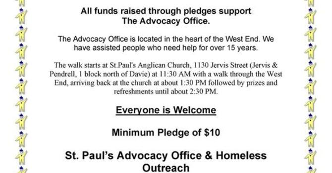 7th Annual Advocacy Walk in the West End, Sunday, September 25th, 11:30am image