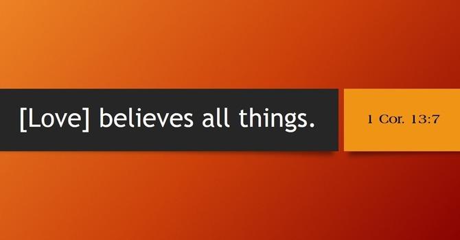 Love believes all things image