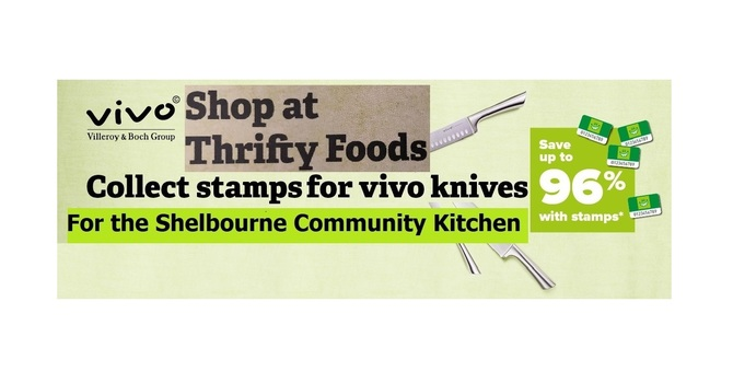 Thank You for the Vivo Knife Stamps for the Shelbourne Community Kitchen