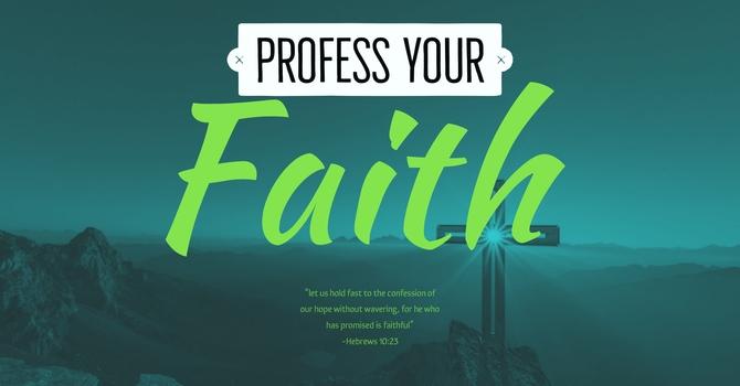 Profession of Faith Class image