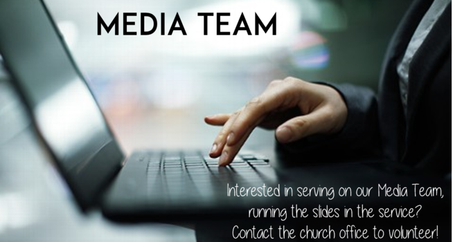 Join our Media Team! image