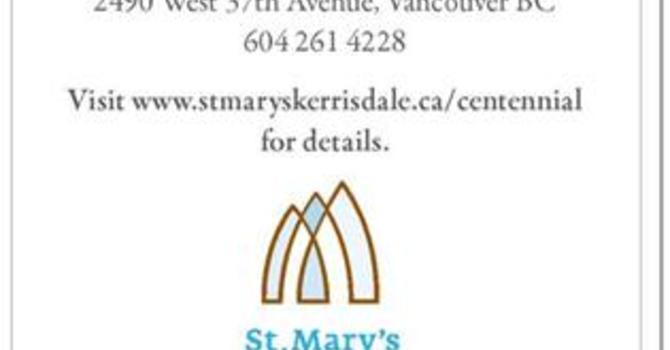100 Years for St. Mary's Kerrisdale image