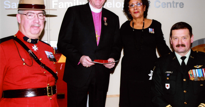 Bishop Michael Receives the Queen's Diamond Jubilee Medal image