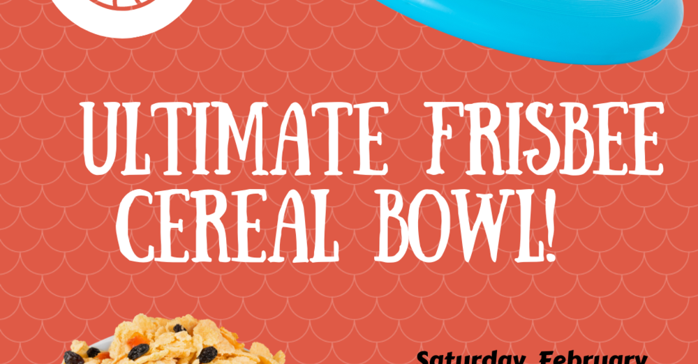 Ultimate Frisbee Cereal Bowl