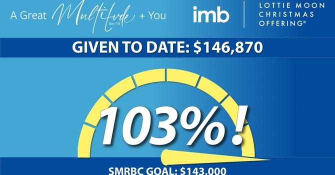SMRBC Surpasses $143,000 Lottie Moon Christmas Offering Goal!