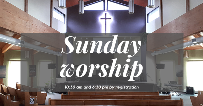 Info for Sunday worship image