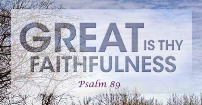 "Poets Week 3: ""Great is Thy Faithfulness"""