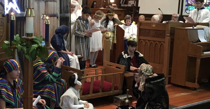 All was Calm, All was Bright at St. Luke's Christmas Pageant image