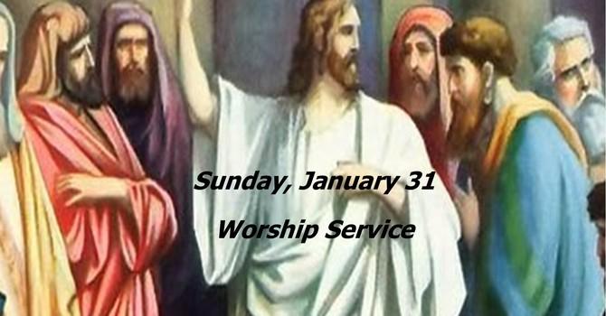 Sunday, January 31 Worship Service image