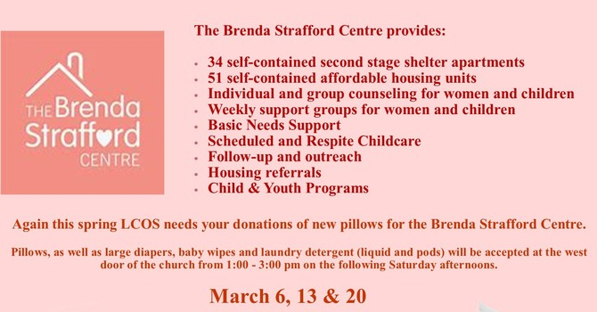 The Brenda Strafford Centre Pillow Campaign