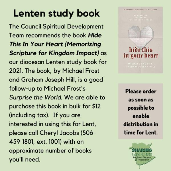 Ordered your Lenten study book yet?