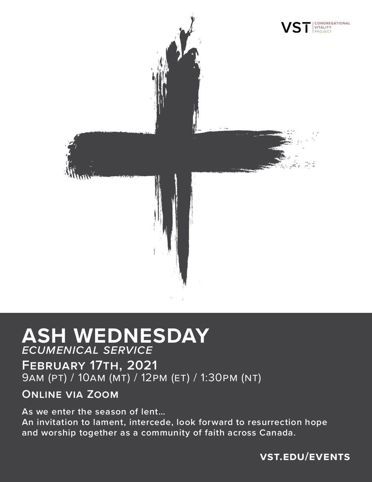 Ash Wednesday Ecumenical Worship | Related Groups ...