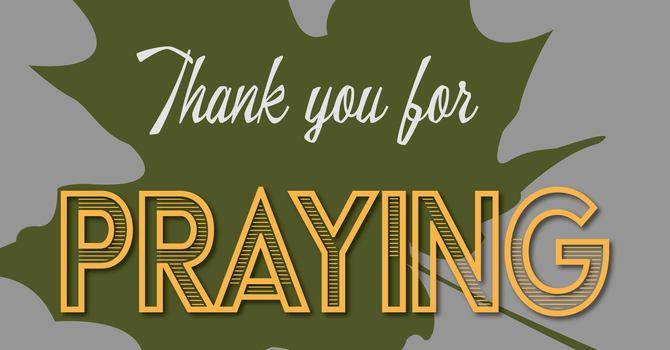 Thank You For Praying image