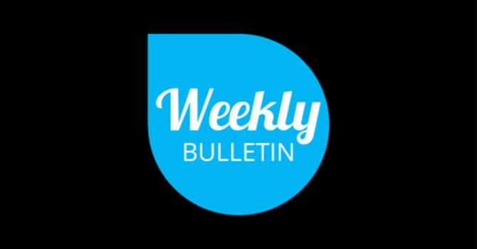 Weekly Bulletin - October 28, 2018 image