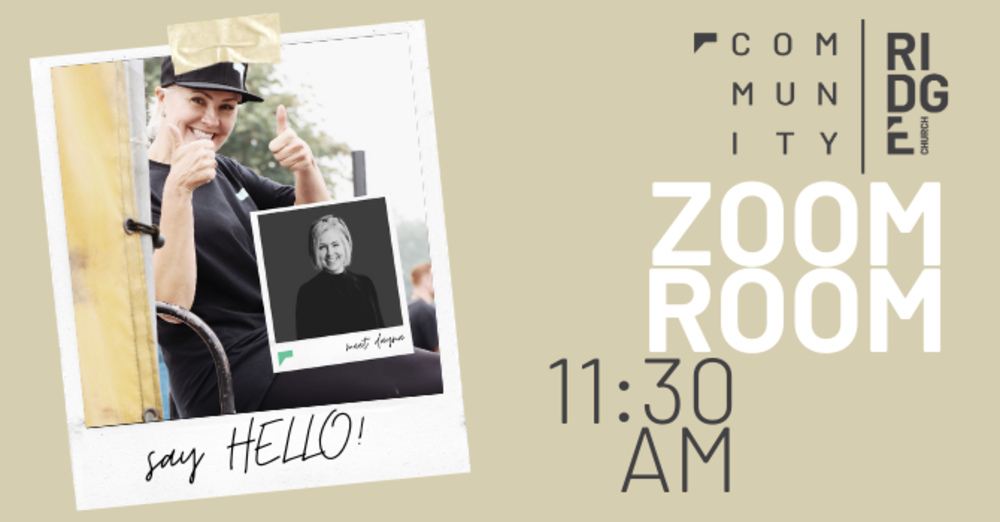 'HELLO!' ZOOM ROOM (After Sunday Service)
