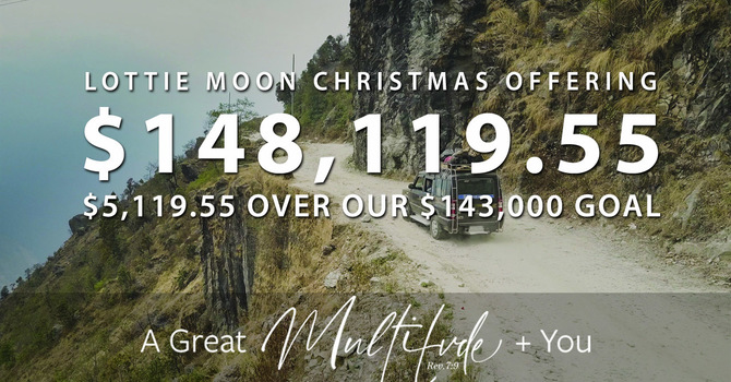 SMRBC Gives $148,119.55 to Lottie Moon Christmas Offering image