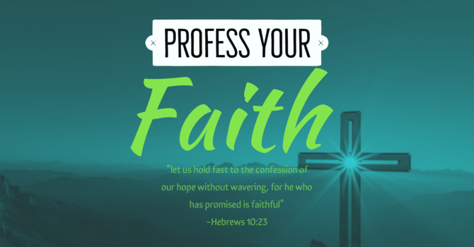 Profession of Faith Class image