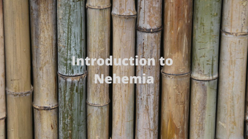 Introduction to Nehemiah part 2