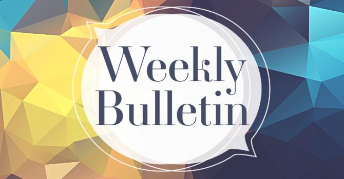 Bulletin for February 14th, 2021