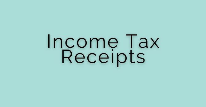 2020 Income Tax Receipts are ready! image