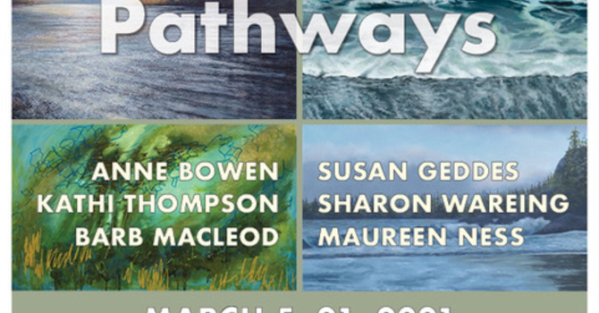 "Upcoming Chapel Gallery Exhibit  -- Pathways -- and ""2022 call to Artists"" image"