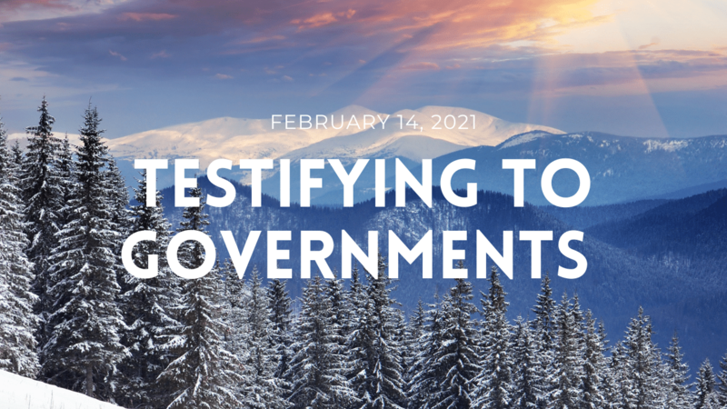 Testifying to Governments