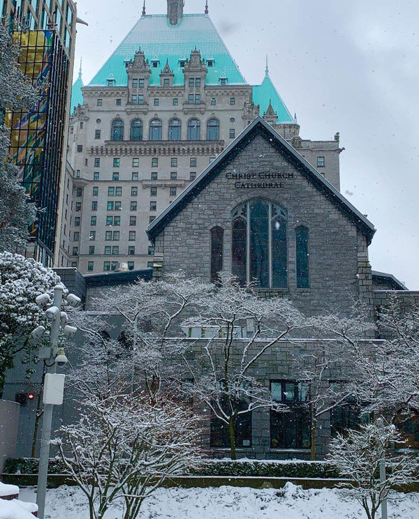 Photos of Christ Church Cathedral on a Snowy February 13