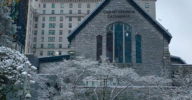 Photos of Christ Church Cathedral on a Snowy February 13 image