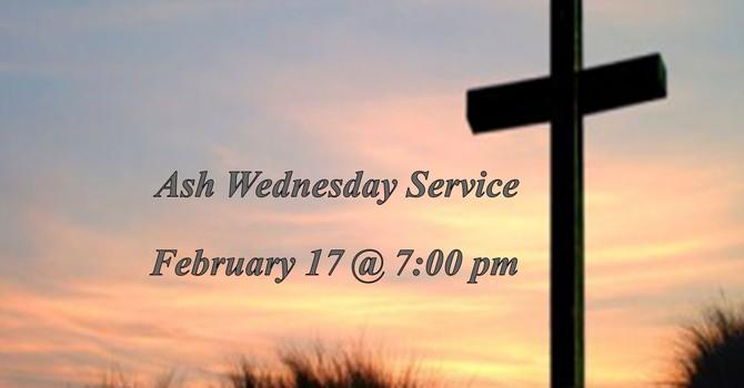 Ash Wednesday, February 17 Worship Service image