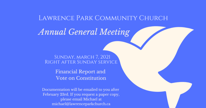 AGM Meeting and Constitutional Vote for LPCC