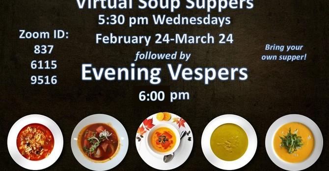 Lenten Virtual Soup Suppers & Evening Vespers image