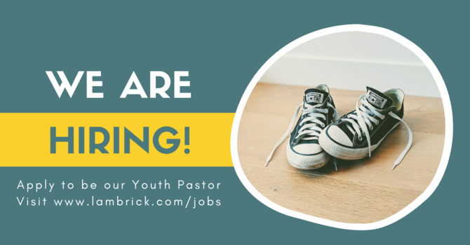 Youth Pastor - Job Opportunity