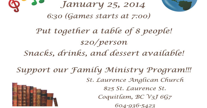 Trivia Night at St. Laurence, Coquitlam image