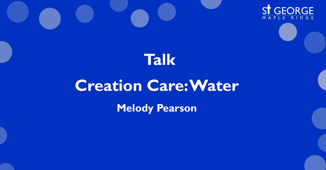 Creation Care: Water image