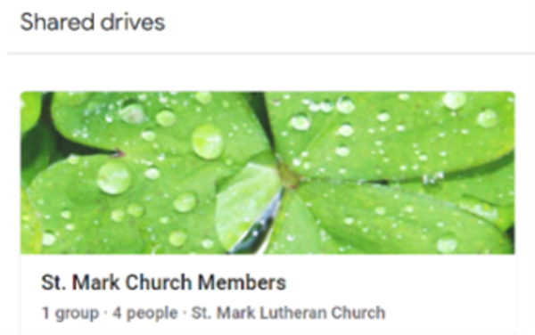 ACCESSING THE ST MARK MEMBERS GOOGLE SHARED DRIVE