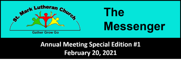 ANNUAL CONGREGATIONAL MEETING - MARCH 21 AT NOON