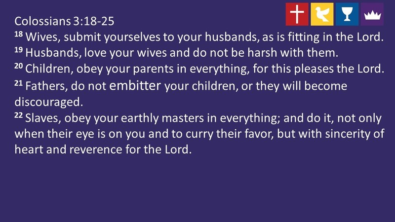 The Christian and Relationships