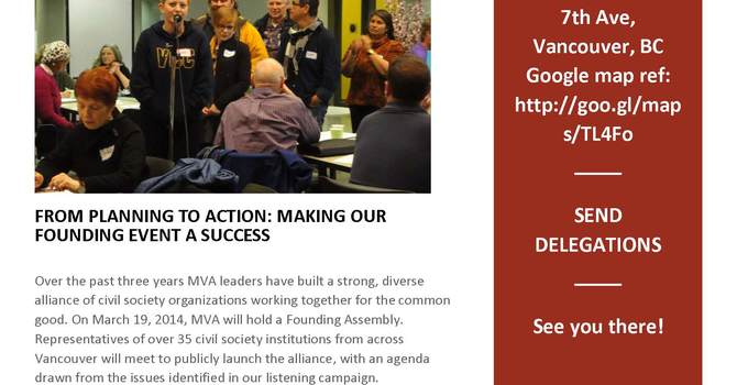 Metro Vancouver Alliance Founding Kick-Off Event image