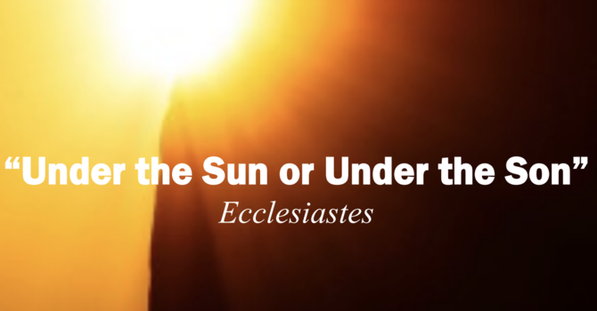 "Poets Week 6: ""Under the Sun or Under the Son"""