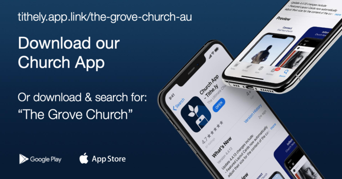 Get our new church app image