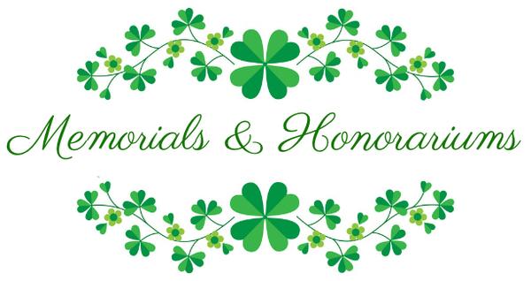 February Memorials and Honorariums